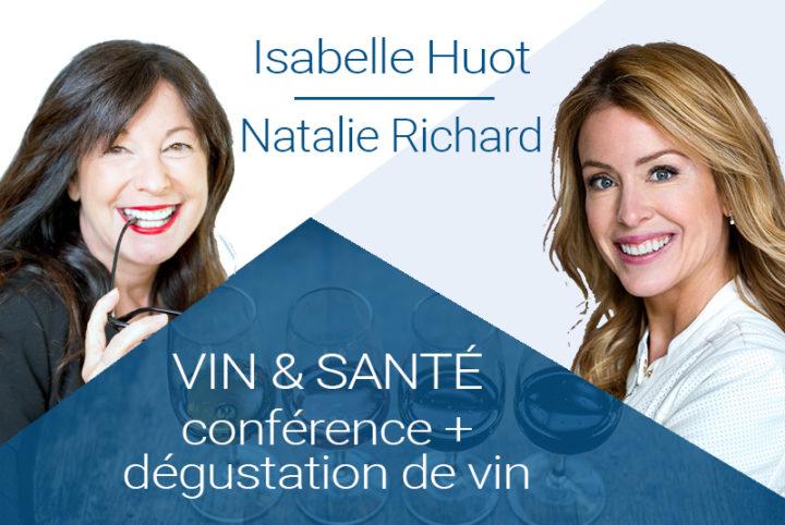 Conférenciers Québec, Formation, Motivation et Team Building - Formax - Forfait Vin & Santé avec Isabelle Huot